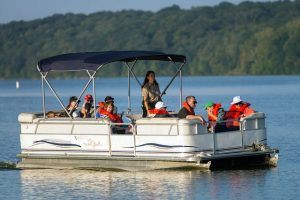 Pontoon boats are great for families